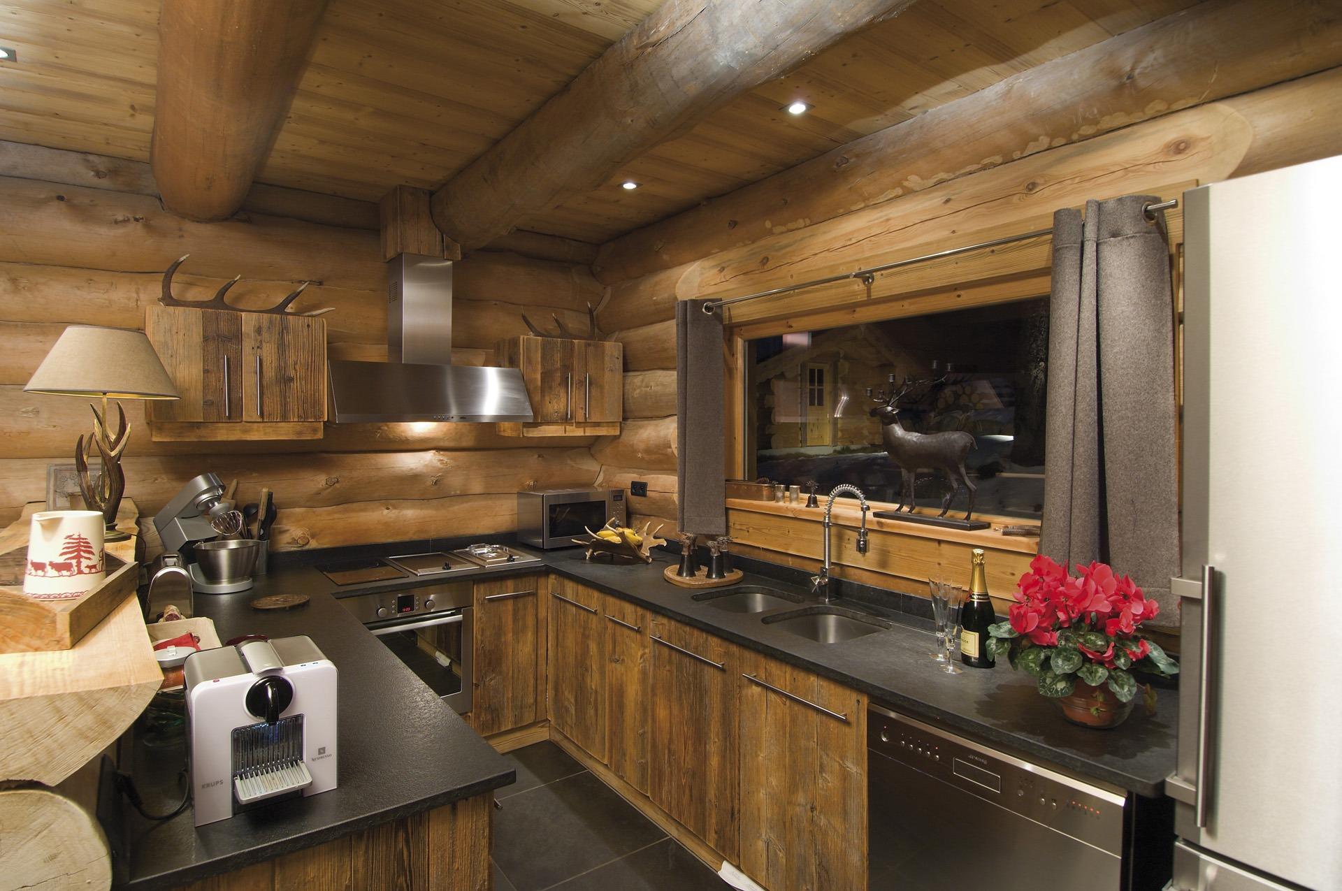 deco cuisine montagne. Black Bedroom Furniture Sets. Home Design Ideas