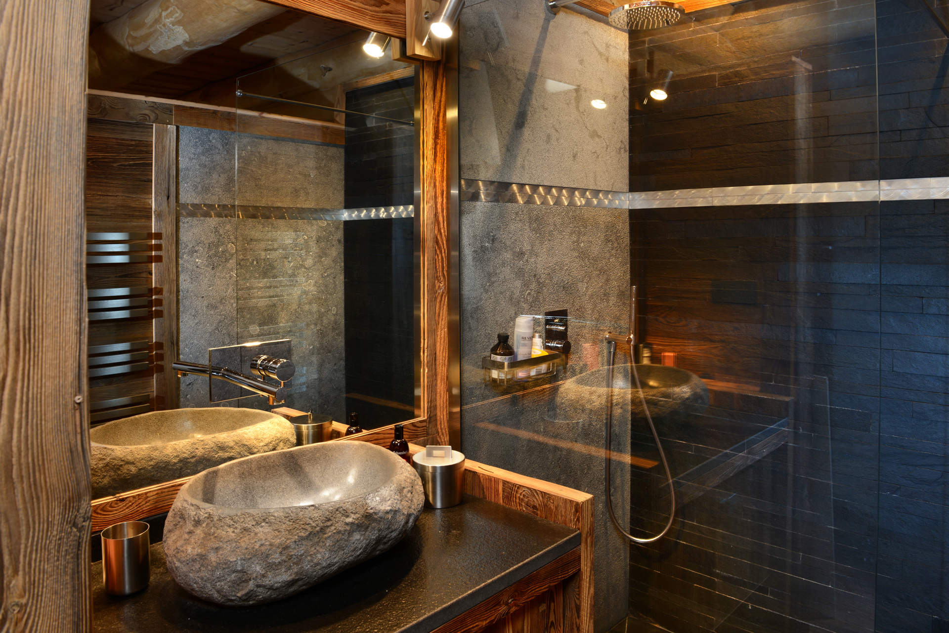 Awesome Salle De Bain Chalet Bois Images - House Interior ...