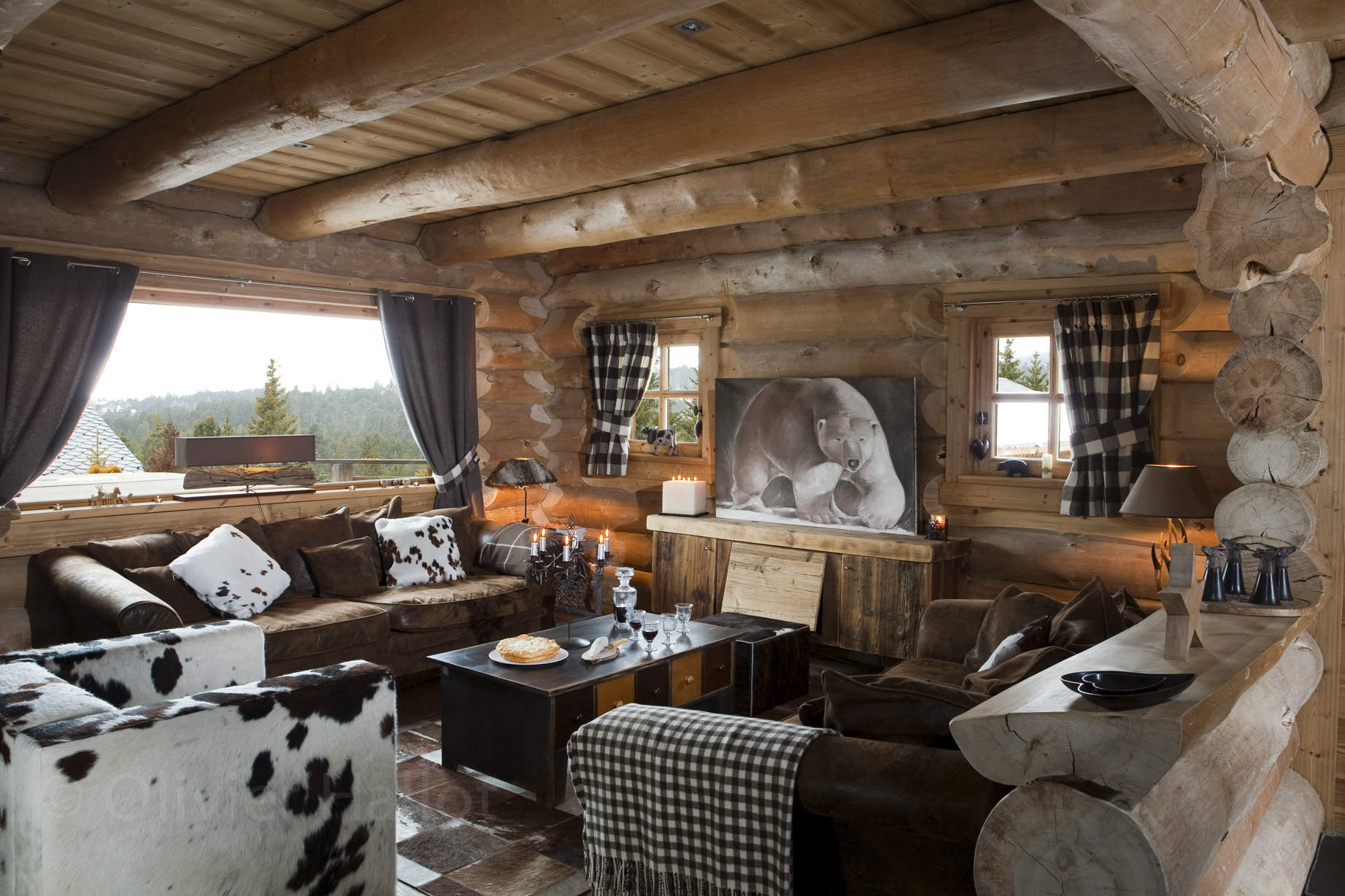 beautiful salon chalet montagne images awesome interior