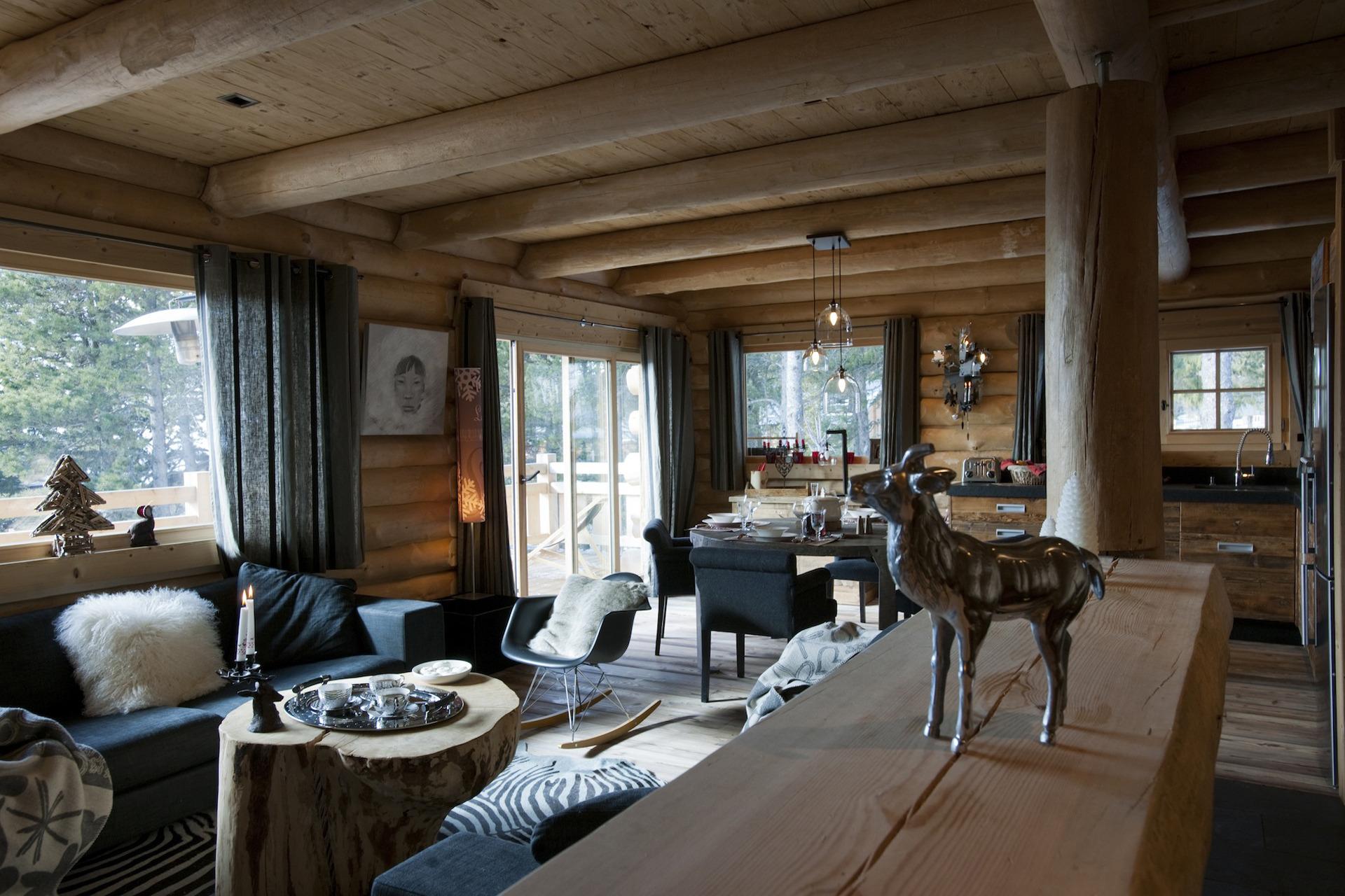 salon chalet montagne des id es novatrices sur la. Black Bedroom Furniture Sets. Home Design Ideas